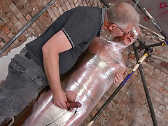 An E-stim Jizm Draining! - Cameron James And Sebastian Kane